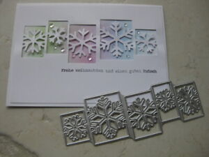 Schneeflocken Frame Weihnachten Stanzschablone Stanze Cutting die