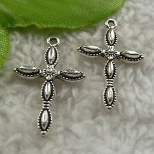 free ship 120 pcs tibet silver cross charms 29x18mm #4141