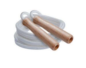 Champion Sports Wooden Handle Nylon Jump Rope, 9 Feet Long