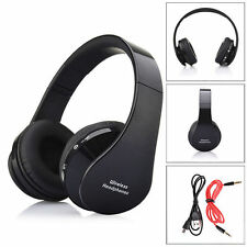 10x Foldable Wireless Bluetooth Stereo Headset Headband For Samsung iPhone Black