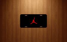 Jordan Jump Man MJ Black Aluminum License Plate tag novelty