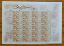 1999 Australia Personal Greetings Stamps Congratulating Sheet of 20 Mnh/Og
