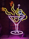 """New Martini Cup Girl Neon Sign Beer Bar Pub Gift 17""""x14"""""""