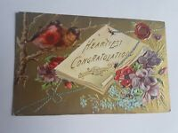 Greeting Postcard Vintage Congrats #1