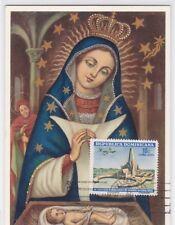 (F) Rep. Dominicaine 853 CARTE MAXIMUM  VIERGE MADONNA PEINTURE MAXI CARD