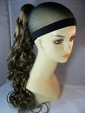 Hairpiece Ponytail #12 Lt GoldN Reddish Brwn Clip-On by Mona Lisa Synthetic