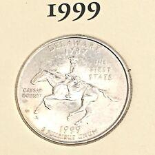 US State Commemorative Quarter Dollar Series, 1999-D DELAWARE 1787 Ex-Fine +