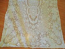 Quaker Lace Cotton vintage Banquet tablecloth 112x64  Cream/Ivory w tag