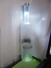 Belvedere Vodka  Lite Up EMPTY  Bottle 750 ML color or plain light