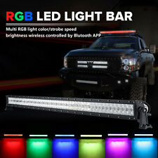 "52""inch 700W CREE RGB LED Light Bar Strobe Flash Halo Ring Offroad Fit Ford F150"