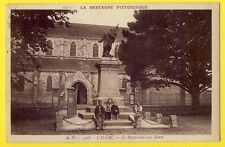 cpa 22 - CALLAC (Côtes d'Armor) MONUMENT aux MORTS animé et Église St Laurent