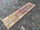 Bohemian runner rug, Turkish vintage rug, Handmade wool rug   1,5 x 5,8 ft