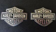 "Genuine Harley Davidson  Bar and shield gas,fuel  tank emblems 3 3/4"" x 3"" metal"