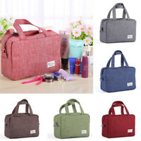 Women Multifunction Travel Cosmetic Bag Canvas Makeup Case Beauty Toiletry Pouch