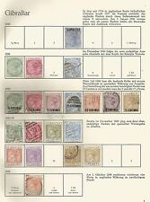 GIBRALTAR QV-QE2 1886-1960 MINT & USED COLLECTION ON 10 ALBUM PAGES CAT £1000+