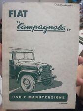 LIBRETTO USO MANUTENZIONE FIAT Campagnola  service book 1954 fuoristrada torpedo