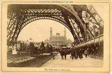 France, Paris, Exposition Universelle de 1889, Vue du Trocadéro prise sous la to