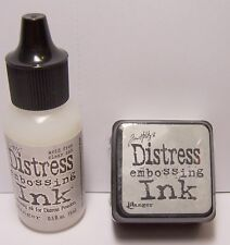 Ranger Tim Holtz DISTRESS CLEAR EMBOSSING INK Mini Stamp Pad & Re-Inker Refill