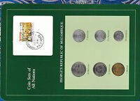 Coin Sets of All Nations Mozambique 1980-1982 UNC 20 Meticais 80 5, 1 Metical 82