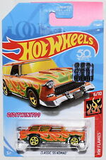 Hot Wheels 2018 Hw Flames Classic '55 Nomad Orange Factory Sealed