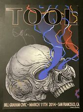 2014 Tool Band Signed Concert Poster Lithograph San Francisco, Ca Night 1
