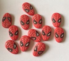 12 EDIBLE SUGARPASTE ICING SPIDERMAN BIRTHDAY BOY GIRL CAKE TOPPERS