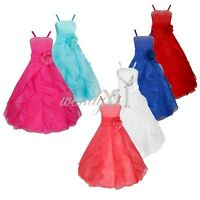 Flower Girl Kid Princess Wedding Bridesmaid Party Formal Ball Gown Pageant Dress