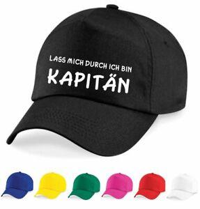 Cap - Mütze - LASS MICH DURCH ICH BIN KAPITÄN - Neu - Kappe -