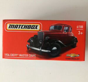 2021 MATCHBOX #6 - 1934 Chevy Master Coupe (Red - Mix 5) 1x Power Grab - New