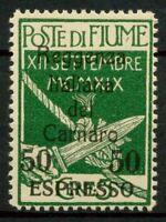 Fiume 1920 Sass. EX4 Nuovo ** 100%