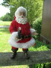 Coca-Cola Kurt Adler Fabriche Santa Figure with LED Bottle Holiday Christmas