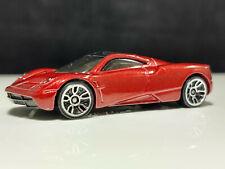 2013 Hot Wheels Pagani Huayra Red Racing Car Tinted Windows Collector