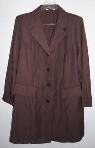 Chelsea Studio Brown Unlined Blazer Jacket Womans Sz 20WP