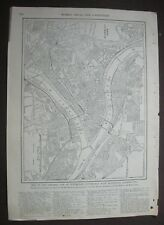 1903 Original Antique Map of The Greater City of Pittsburgh with Allegheny