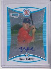 2008 Bowman Chrome Ryan Kalish Rookie Prospect Autograph Boston Red Sox  BCP273