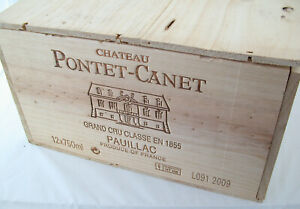 Chateau PONTET CANET Pauillac 2009 13 x 0,75 red wine Rotwein OHK wooden box