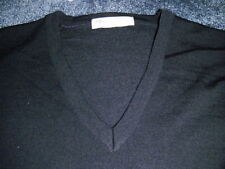 St Michael From Marks &Spencer New Navy Blue Pure New Wool Lambs UK  Sweater M