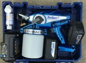 Graco Proshot II 16M886 Cordless Airless Paint Sprayer 2 20V Batteries used Once