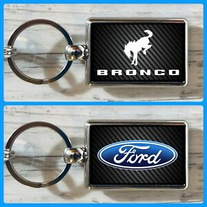 Ford Bronco Double Sided Metal Keychain