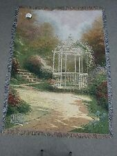 Thomas Kinkade Lilac Gazebo Throw-Afghan woven tapestry 51 x 68 New with Tags