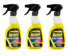 Prestone 3x 500ml Fast Rapid Acting Windscreen De-Icer Frost Ice Trigger Spray