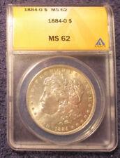 1884-O Morgan Silver Dollar ANACS MS 62 Brilliant Luster