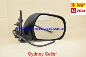 NEW DOOR MIRROR FOR TOYOTA HIACE 2005-2013 RIGHT DRIVER SIDE (BLACK, ELECTRIC)