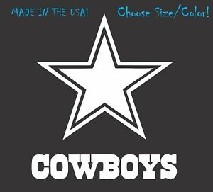 Dallas Cowboys Football Vinyl Decal Sticker for NFL Car Truck Window Yeti Rtic