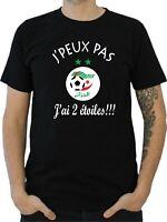 T-SHIRT HOMME DZ FENNEC ALGERIE CAN 2019 JPEUX PAS J'AI 2 ETOILES !