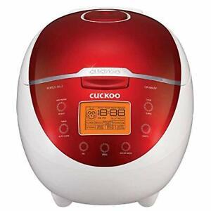 Cuckoo CR-0655F Rice Cooker & Warmer 6 Cups LCD-Display 11-Menu Options Tu...