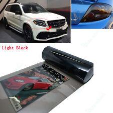 Light Black 30 x 100CM Headlight Tint Tail Light Fog Lamp Vinyl Smoke Film Sheet