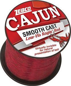 ZEBCO CAJUN SMOOTH CAST LOW-VIS RAGIN' RED MONOFILAMENT LINE