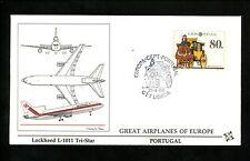 Postal History Portugal Fdc #1735 Europa horse mail coach transportation 1988