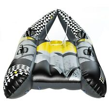 SnowGlider Thunder Jet Inflatable Winter Sled for 2 Riders Snowtube   Ages 13+